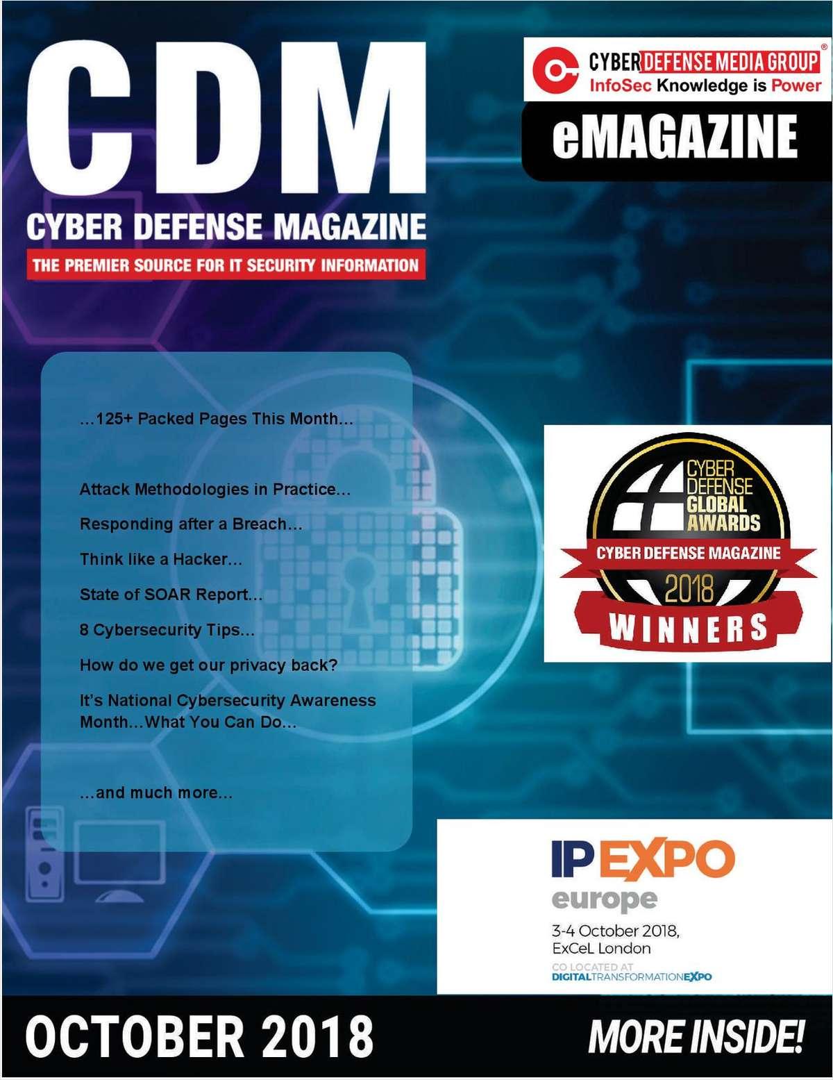 Cyber Defense eMagazine - Attack Methodologies in Practice - October 2018 Edition