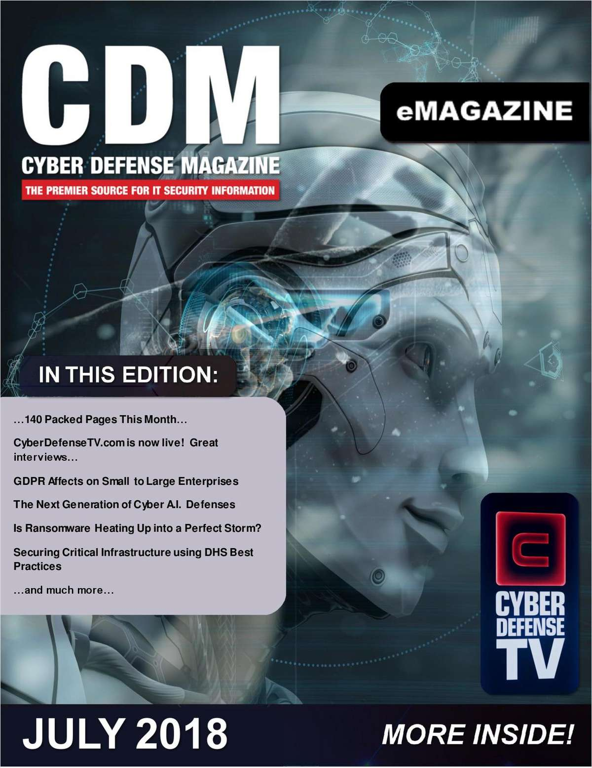 Cyber Defense eMagazine - GDPR Affects on Small to Large Enterprises - July 2018 Edition