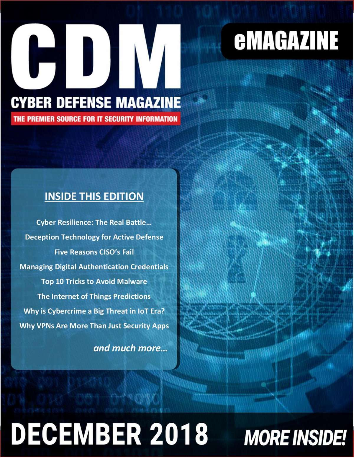 Cyber Defense eMagazine - Top 10 Tricks to Avoid Malware - December 2018 Edition