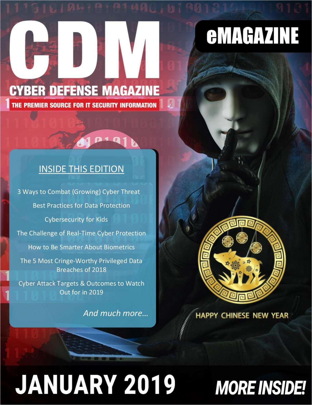 Cyber Defense eMagazine - Best Practices for Data Protection - January 2019 Edition