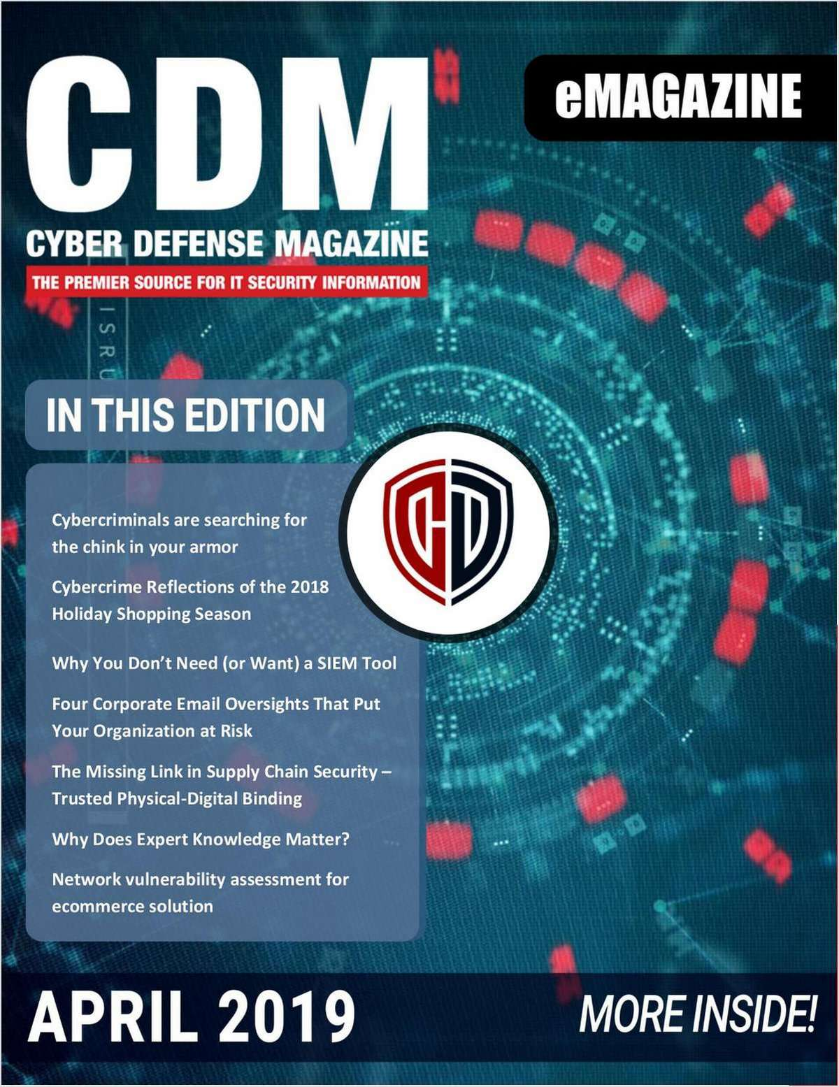 Cyber Defense eMagazine - April 2019 Edition