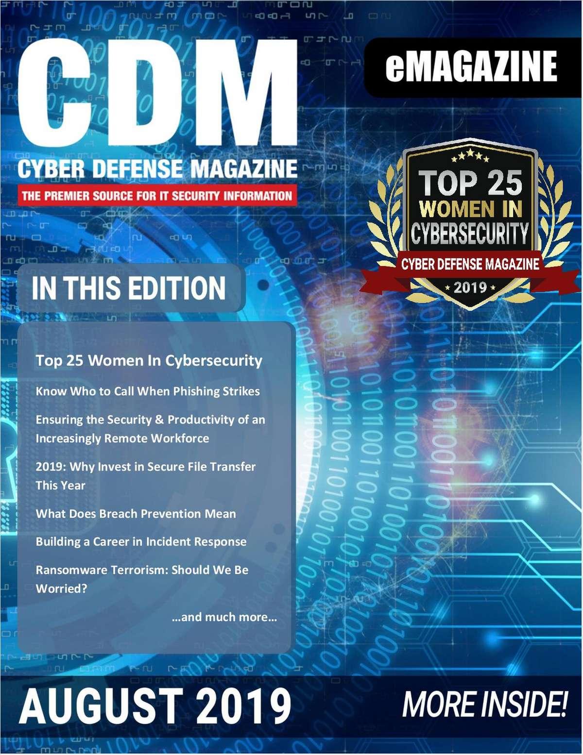 Cyber Defense eMagazine - August 2019 Edition