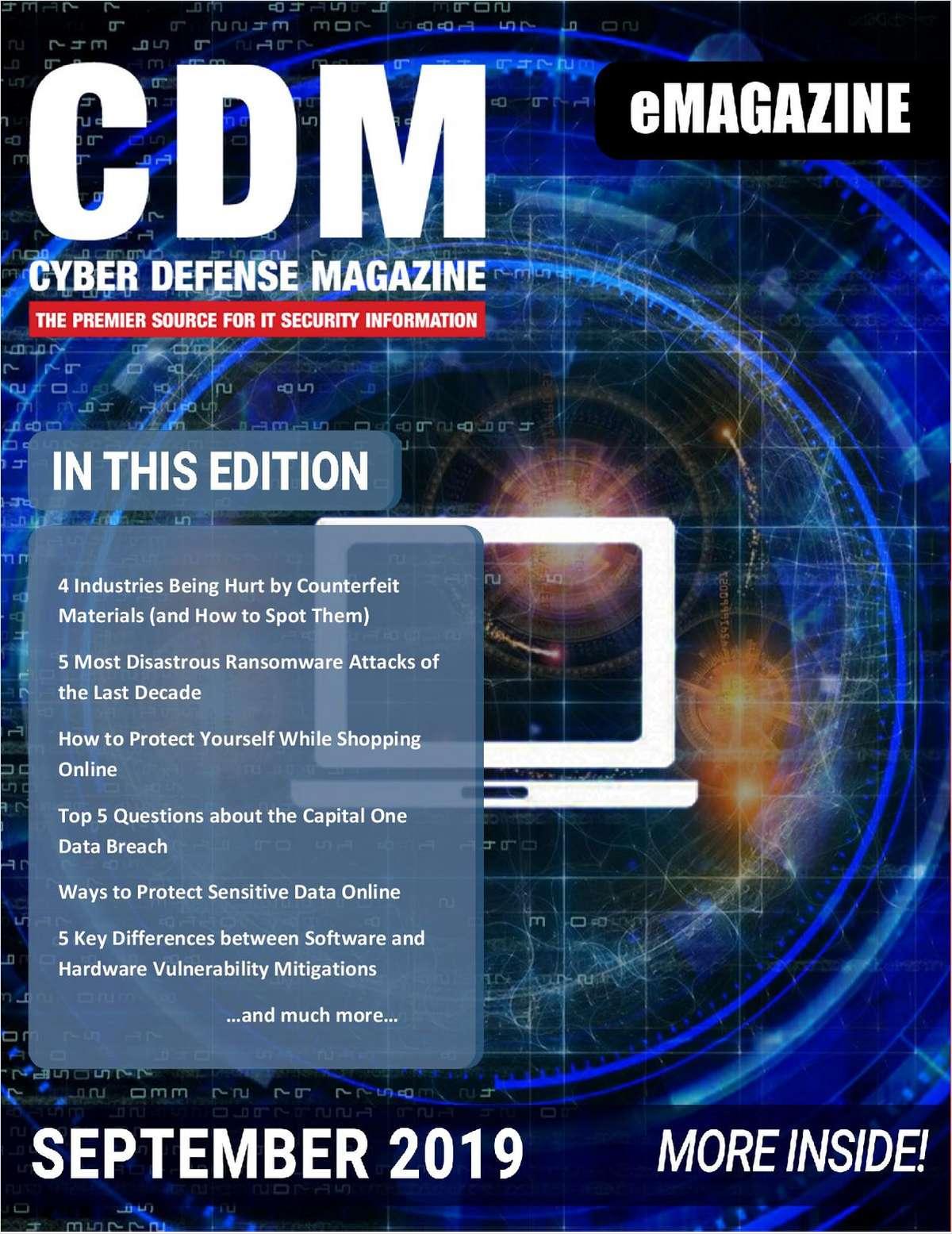 Cyber Defense eMagazine - September 2019 Edition