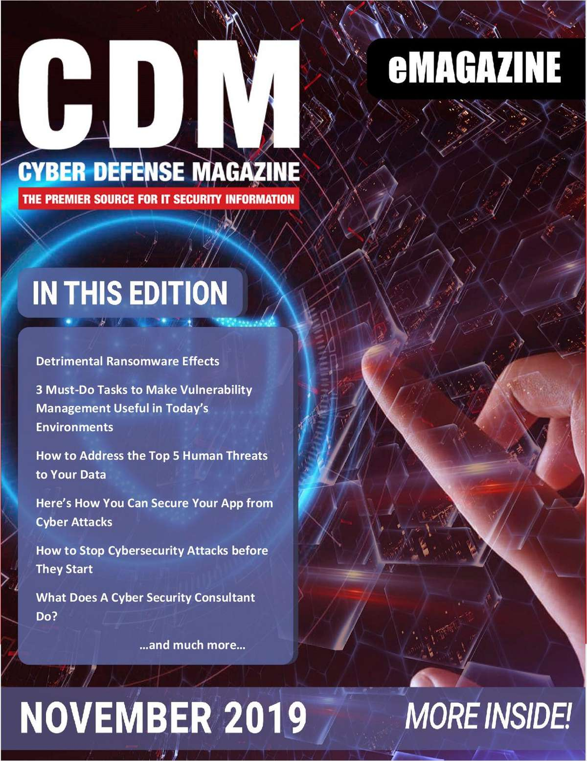 Cyber Defense Magazine November 2019