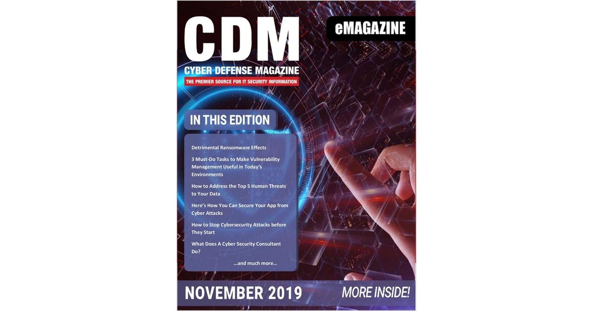 Cyber Defense Magazine November 2019