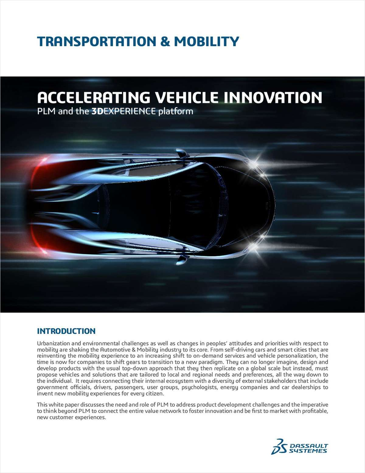 Accelerating Vehicle Innovation: PLM and the 3DEXPERIENCE Platform