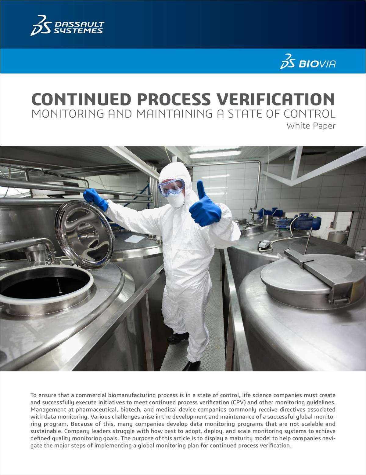 Continued Process Verification: Monitoring and Maintaining A State of Control
