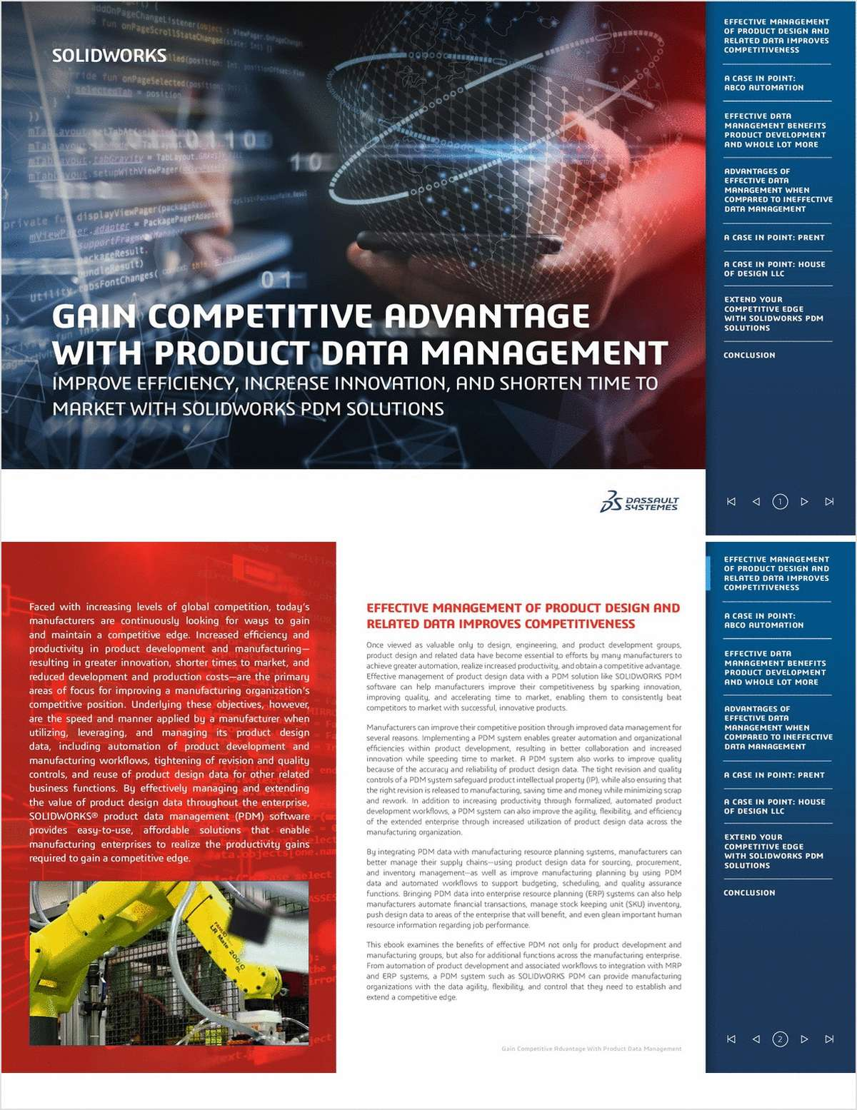 Gain Competitive Advantage with Product Data Management: Improve Efficiency, Increase Innovation, and Shorten Time to Market with SOLIDWORKS PDM Solutions