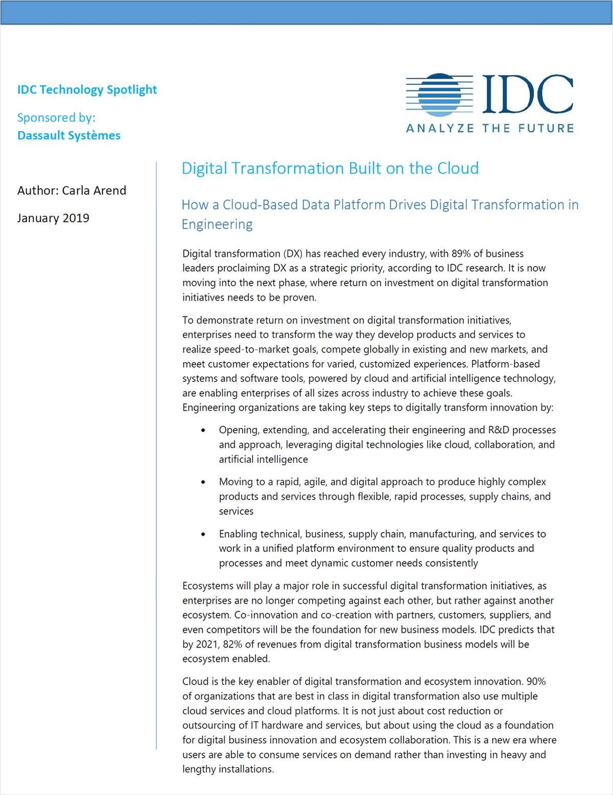 Digital Transformation Built on the Cloud