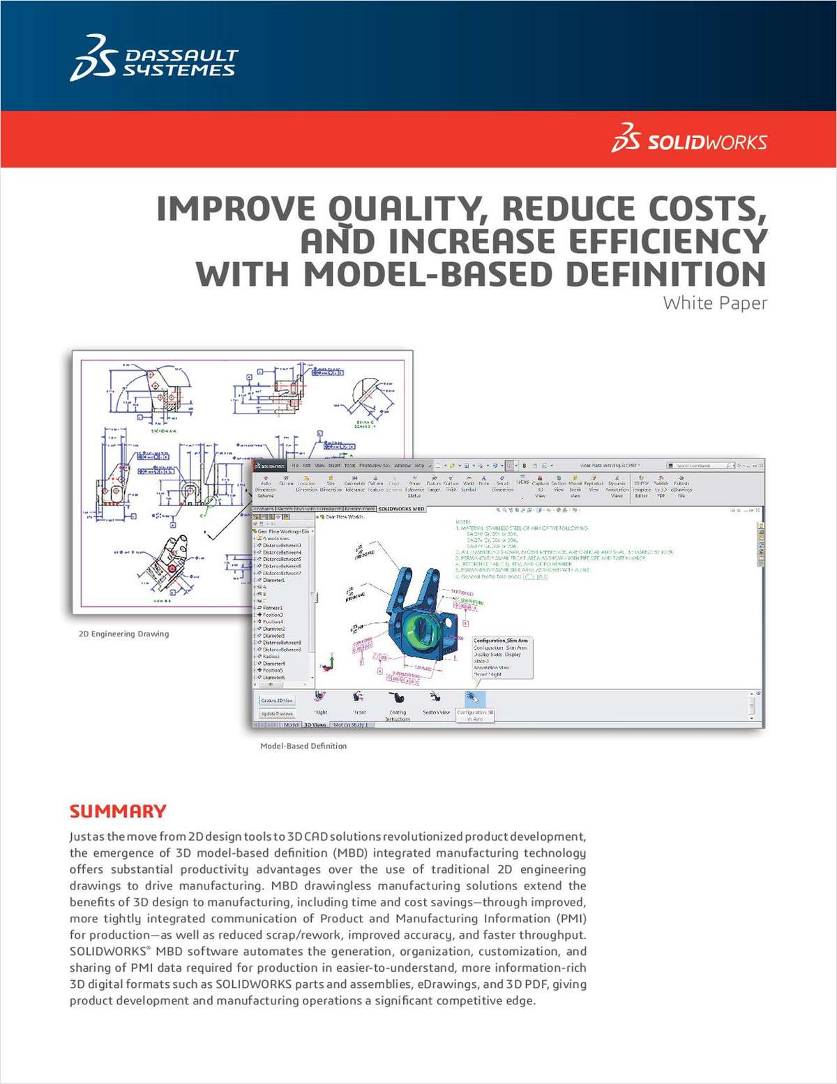 Improve Quality, Reduce Costs and Increase Efficiency with Model-Based Definition