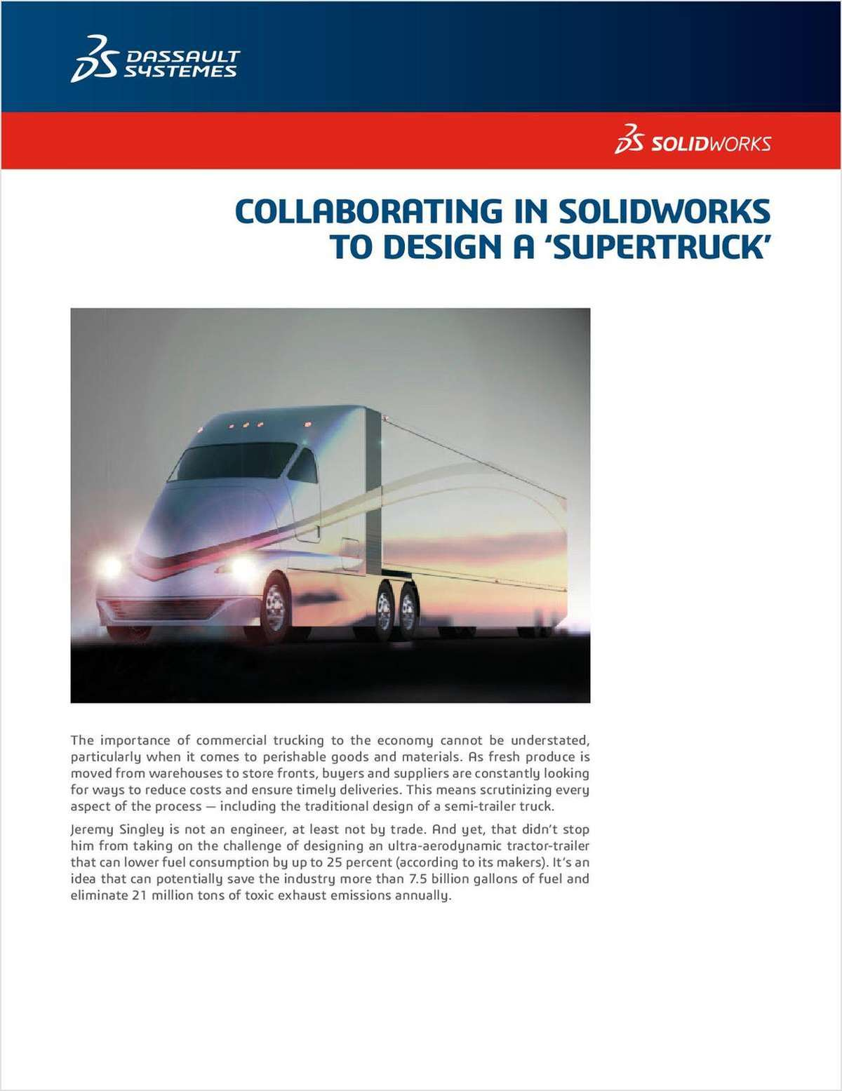 SOLIDWORKS® Helps Revolutionize Commercial Trucking