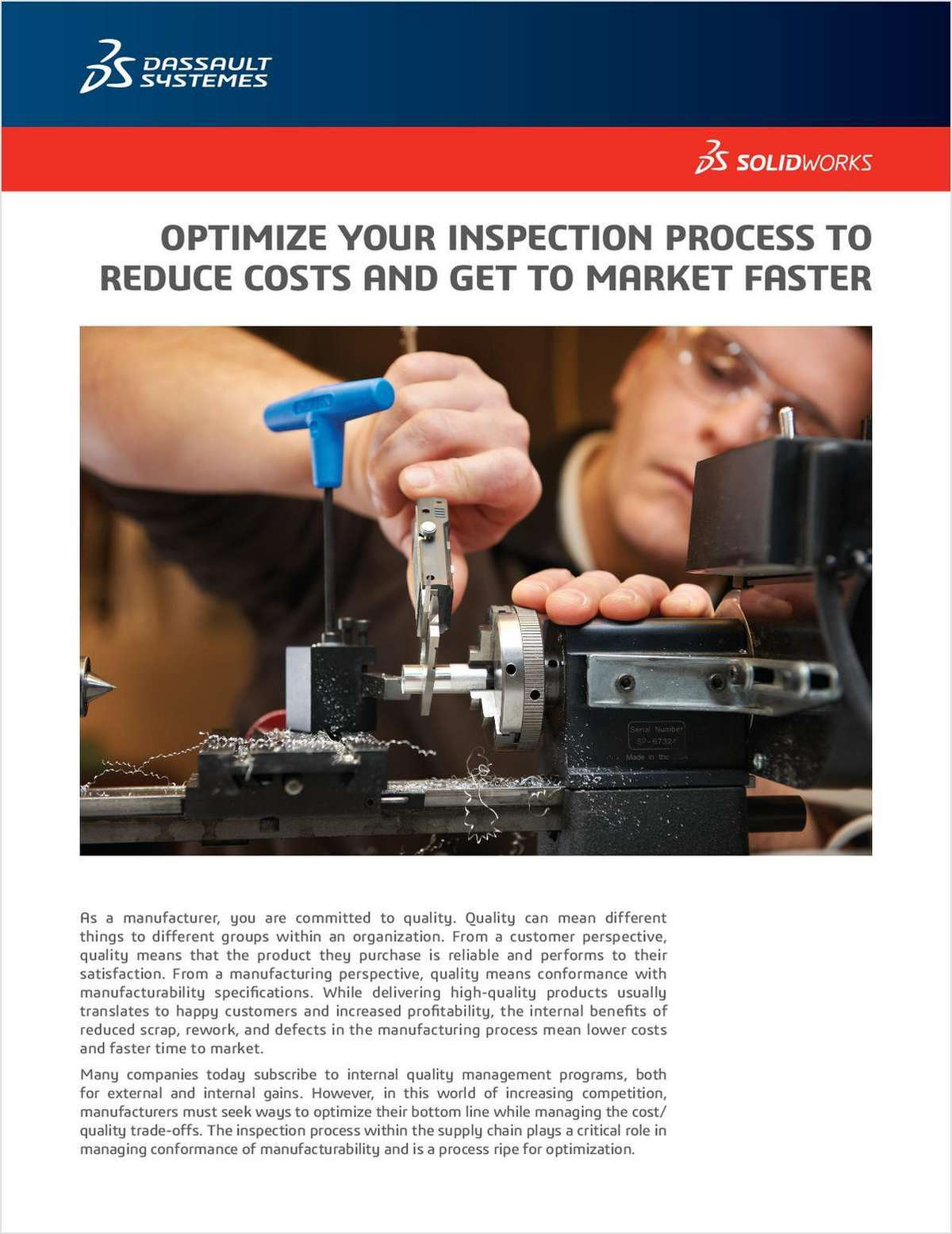 SOLIDWORKS® Inspection Software Improves the Inspection Process Without Sacrificing Quality