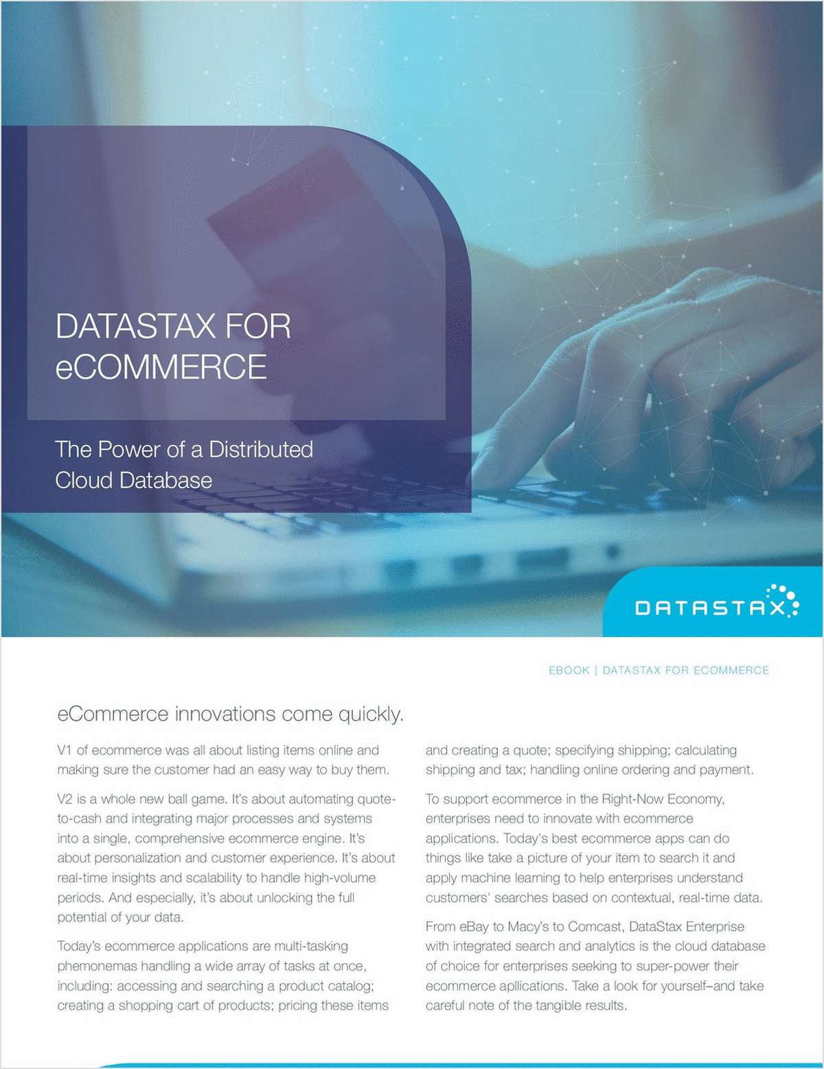 DataStax for eCommerce Free eBook