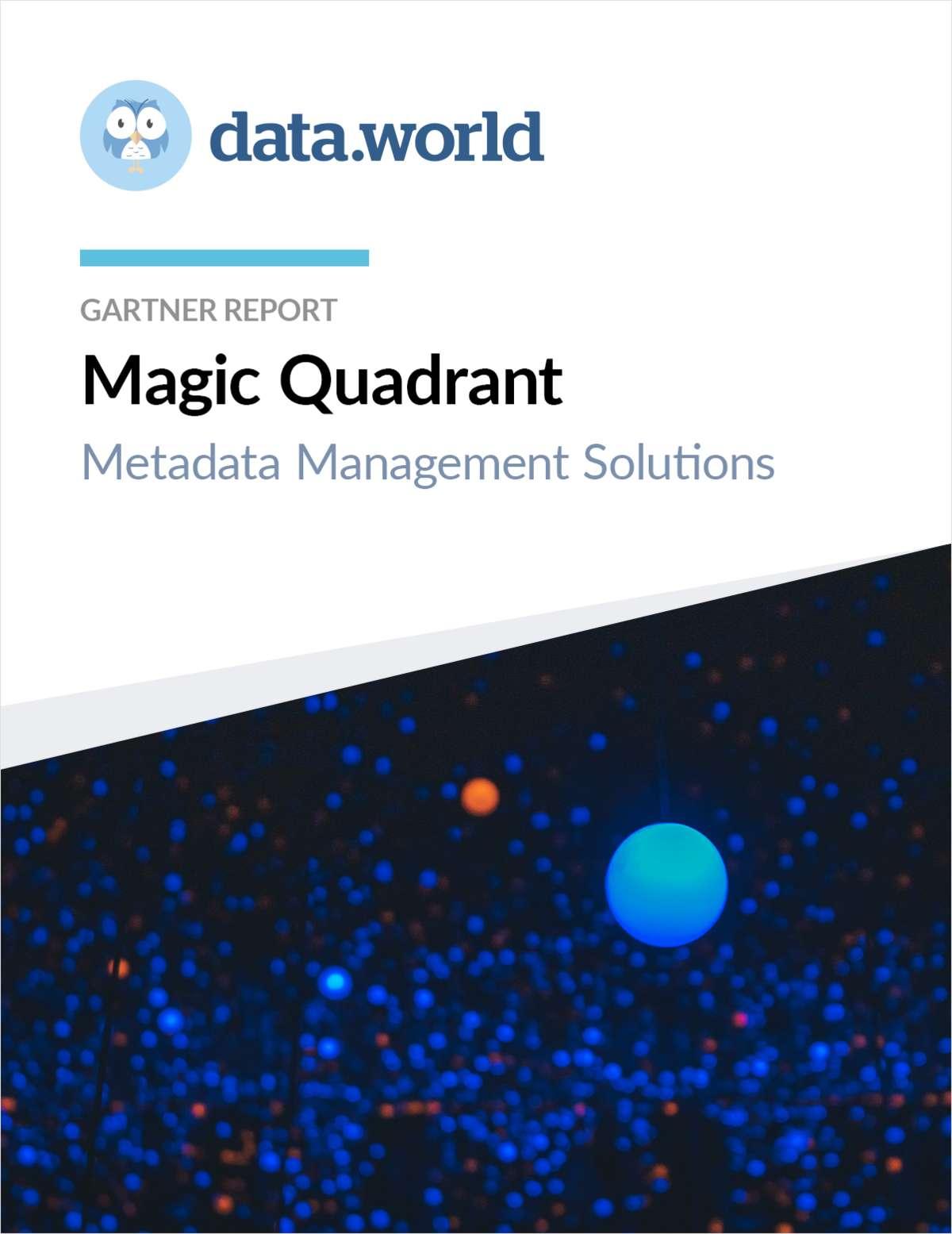 Gartner Report: Magic Quadrant for Metadata Management Solutions