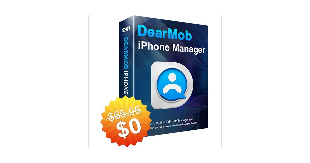DearMob iPhone Manager for Windows & Mac ($65.95 Value) FREE For a Limited Time, Free DearMob eKit