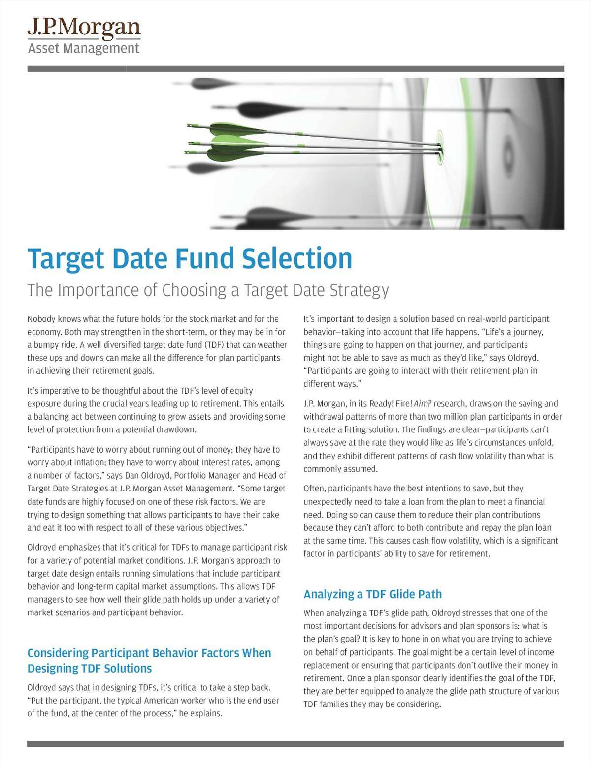 Target Date Fund Selection: The Importance of Choosing a Target Date Strategy