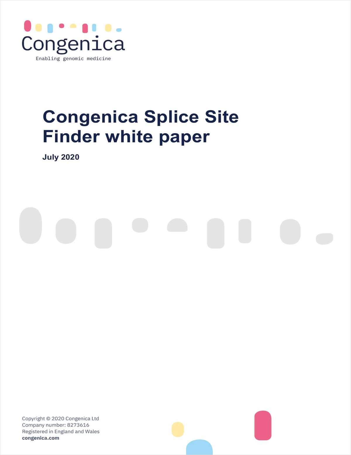 Congenica Splice Site Finder White Paper