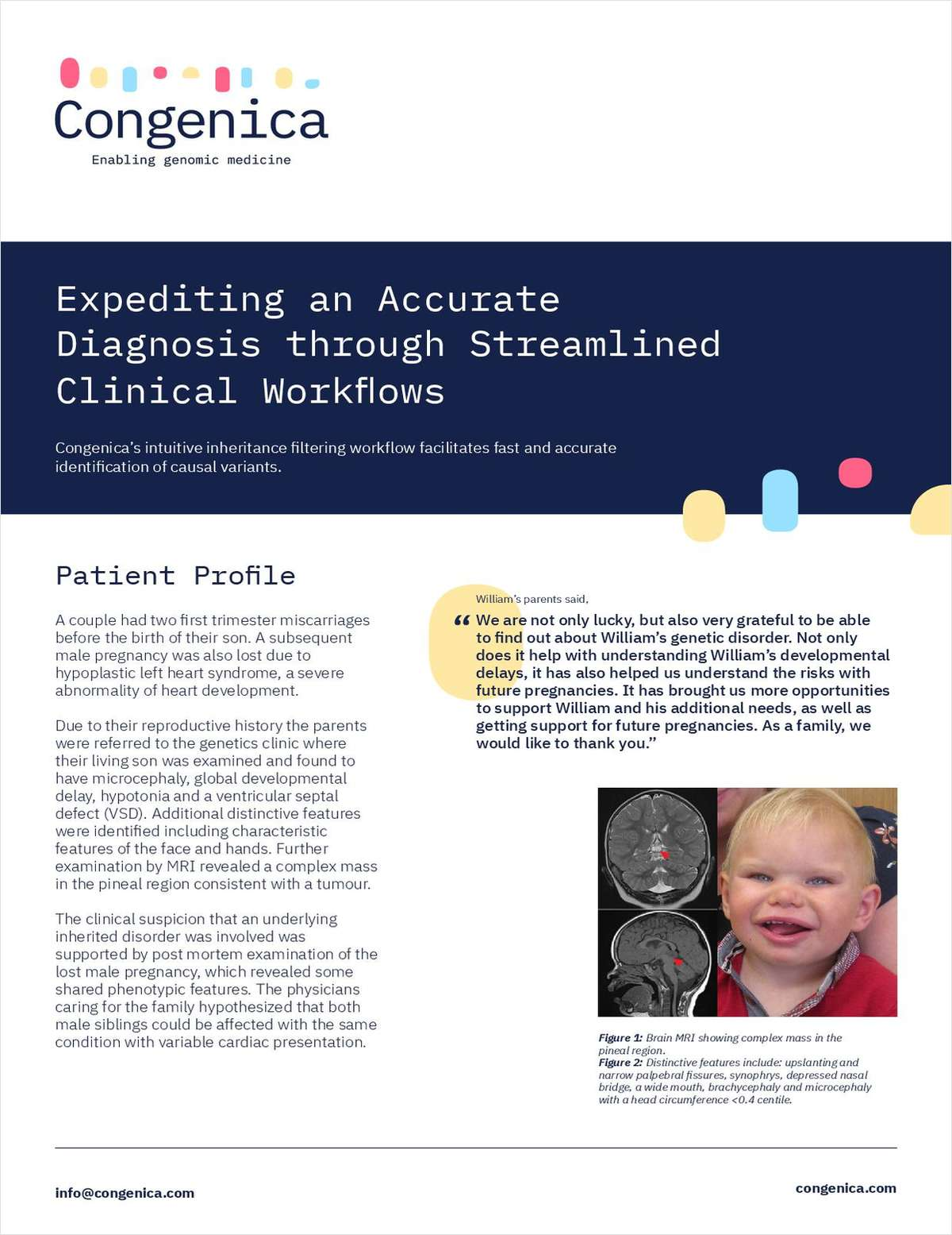 Expediting an Accurate Diagnosis through Streamlined Clinical Workflows