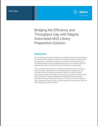 Bridging the Efficiency and Throughput Gap with Magnis Automated NGS Library Preparation Solution