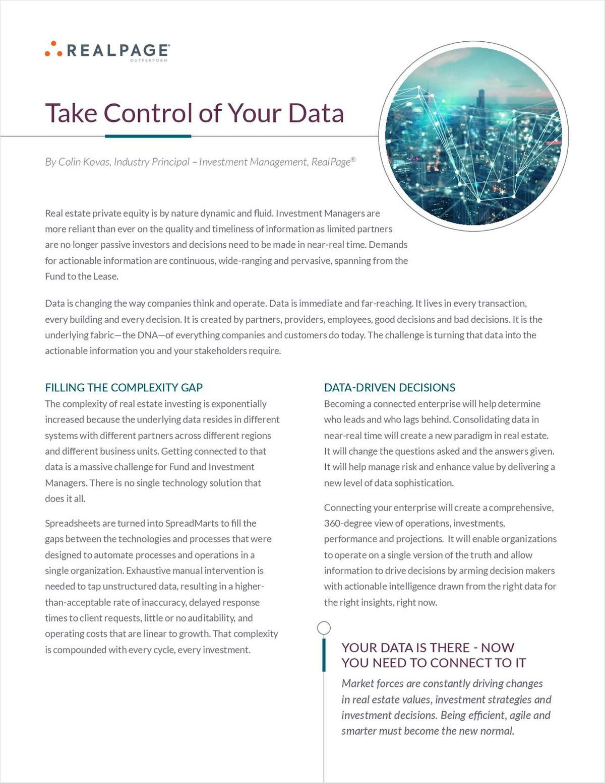 Take Control of Your Data to Deliver More Value