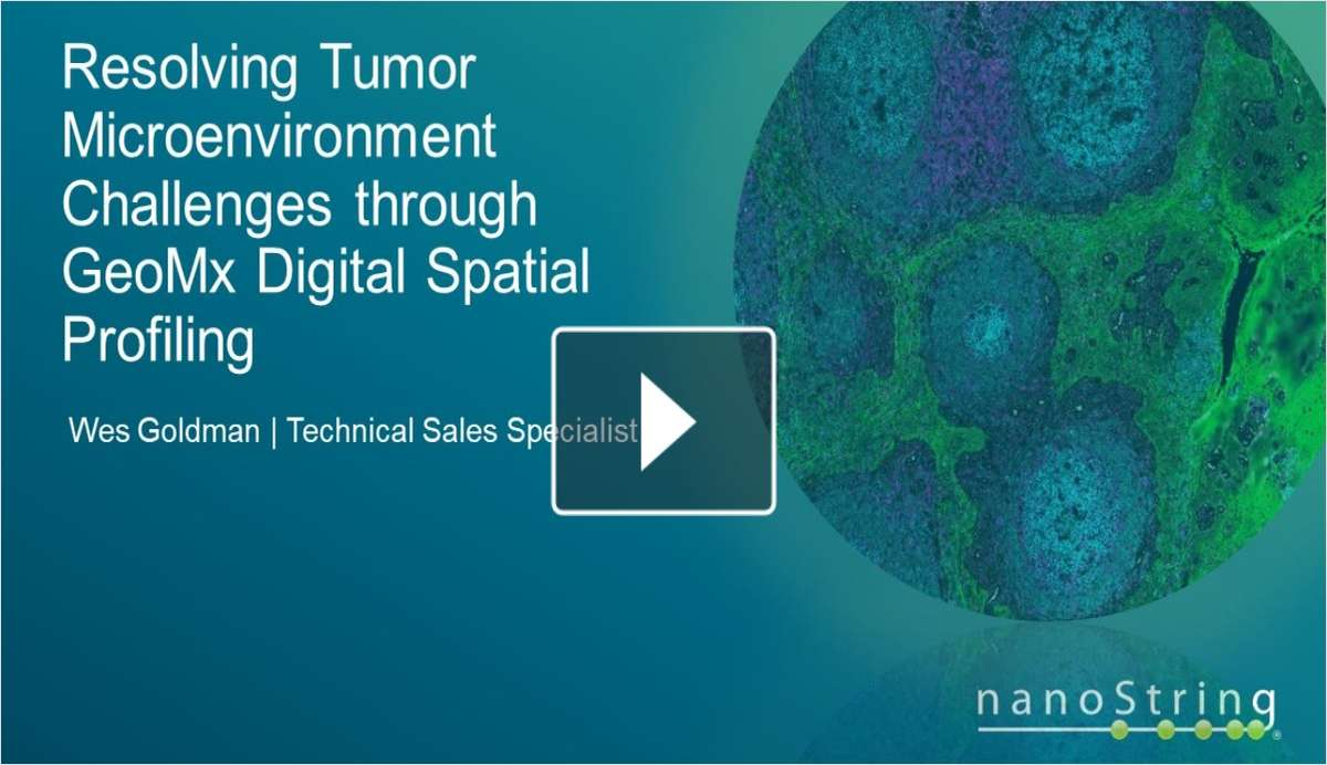 Resolving Tumor Microenvironment Challenges through GeoMx Digital Spatial Profiling