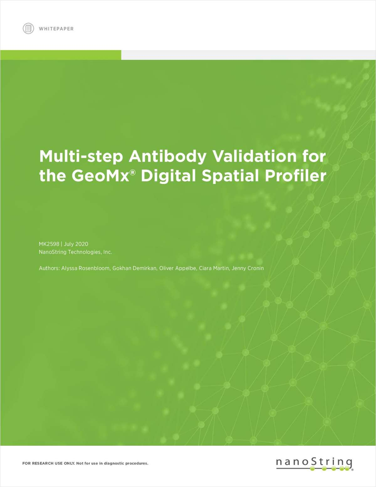 Multi-step Antibody Validation for the GeoMx Digital Spatial Profiler