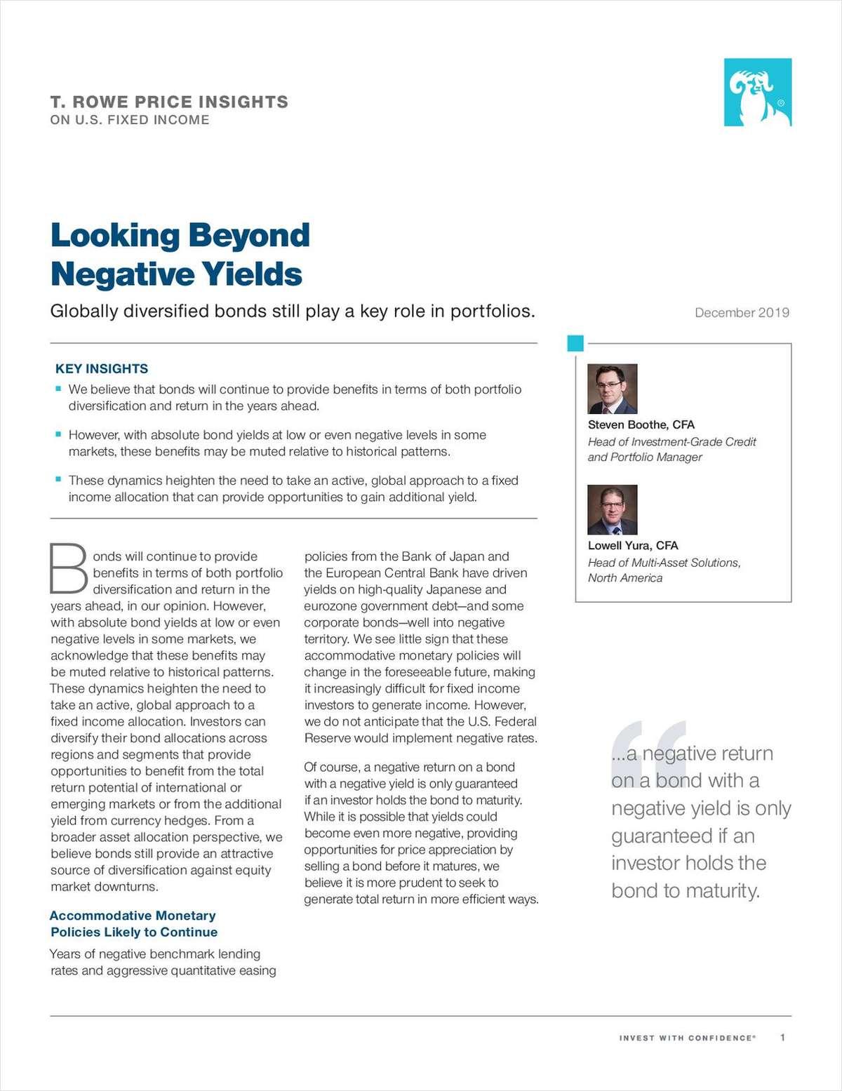 Looking Beyond Negative Yields