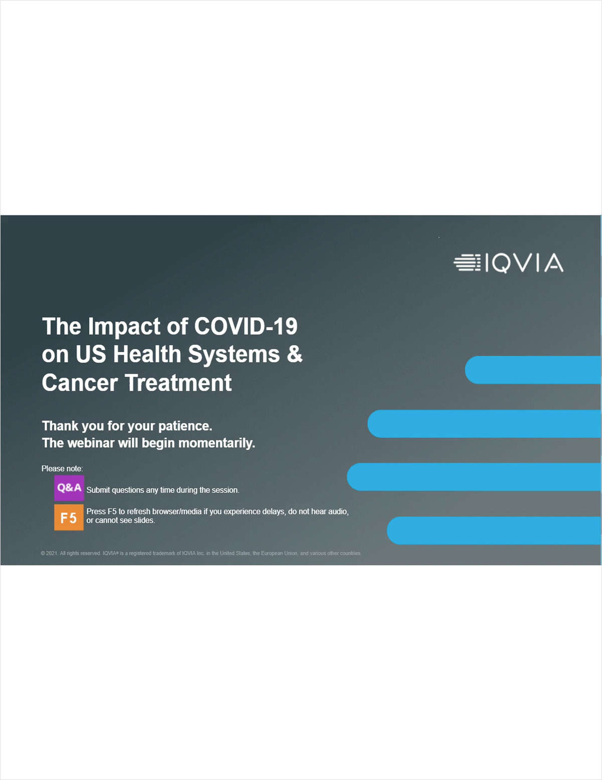 The Impact of Covid-19 on US Health Systems & Cancer Treatment