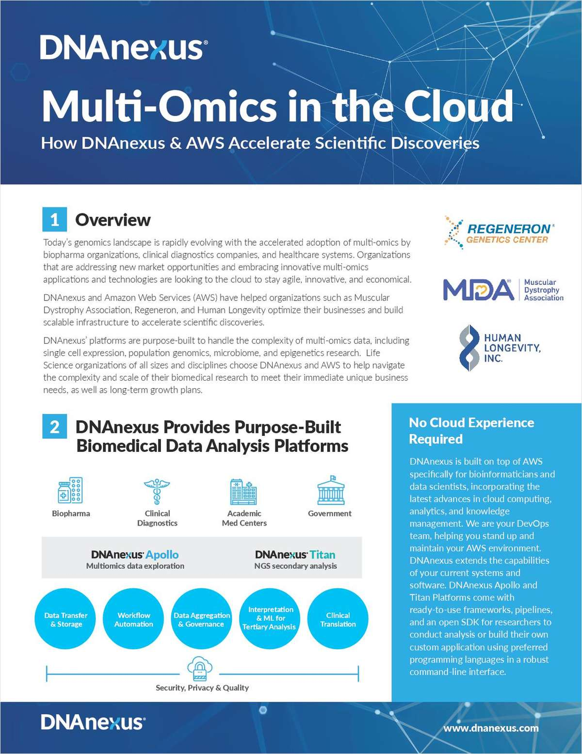 Multi-Omics in the Cloud
