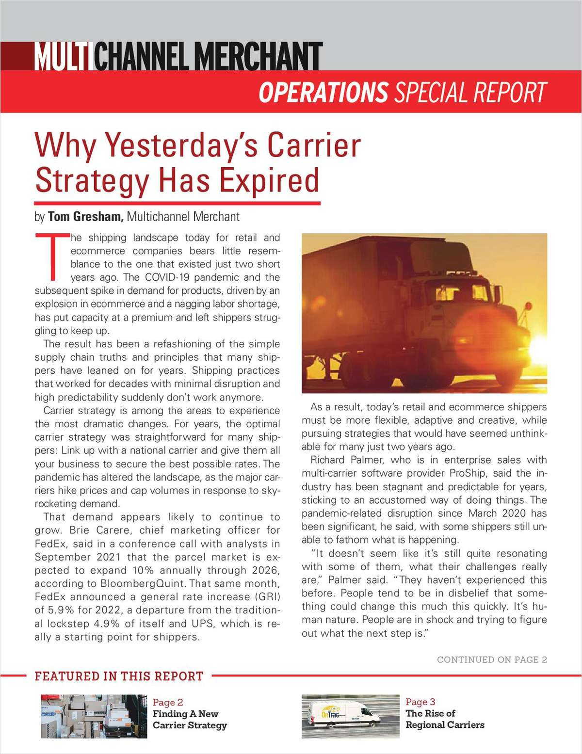 Why Yesterday's Carrier Strategy Has Expired