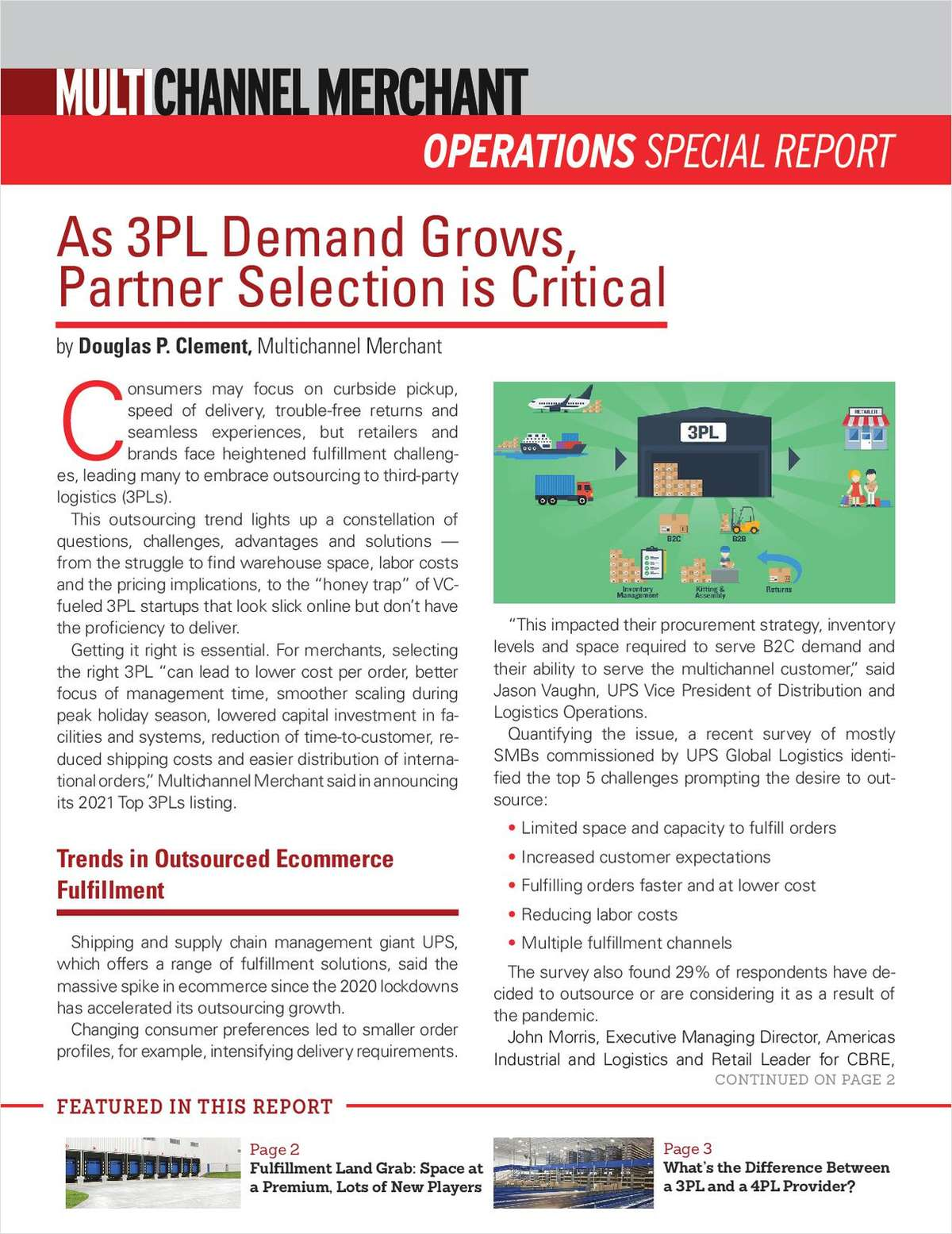 As 3PL Demand Grows, Partner Selection is Critical