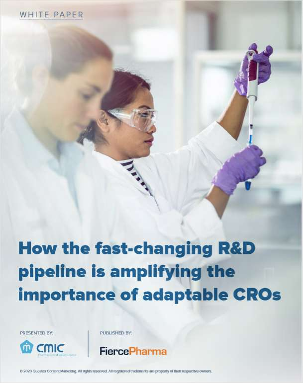 How the fast-changing R&D pipeline is amplifying the importance of adaptable CROs