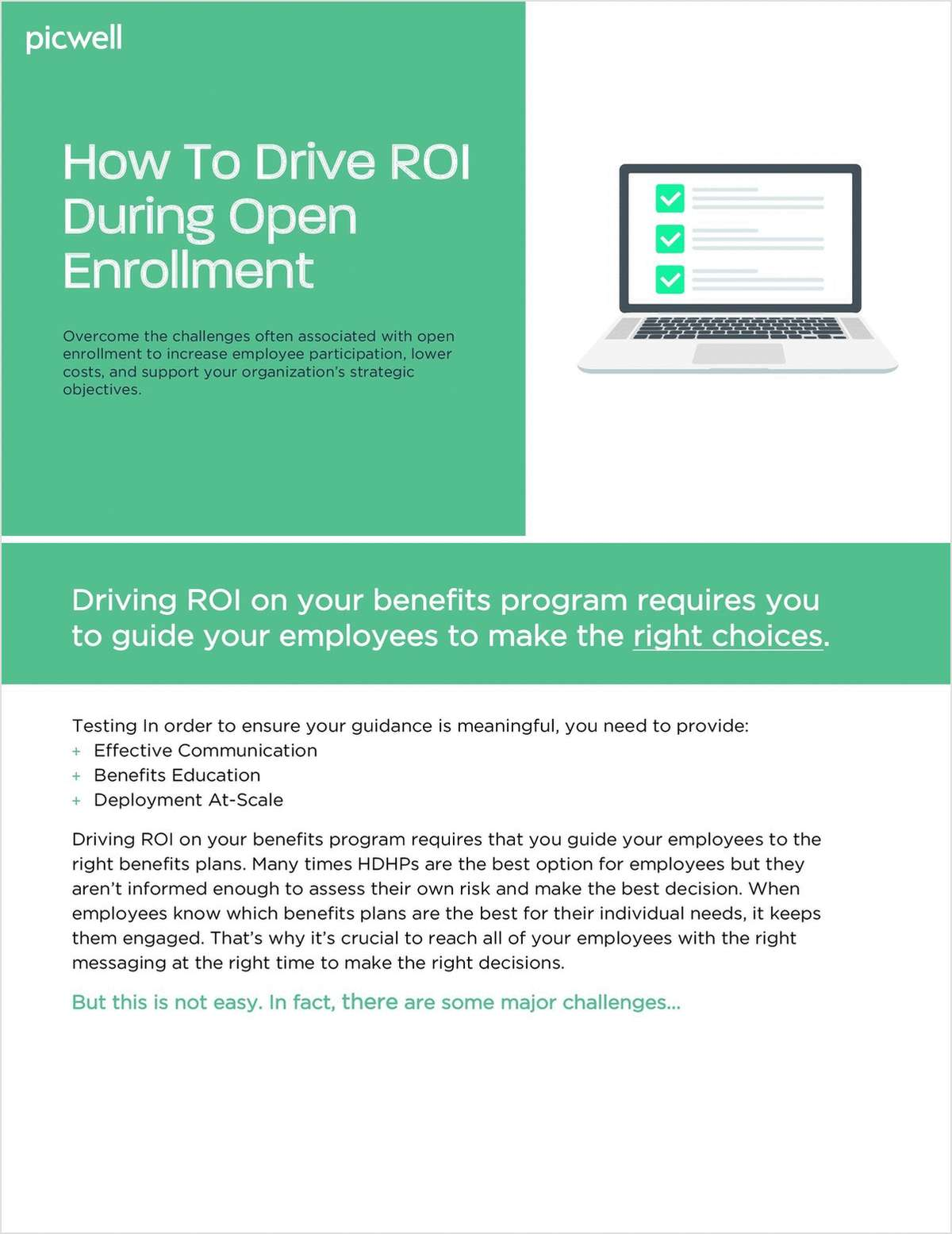 How to Drive ROI During Open Enrollment