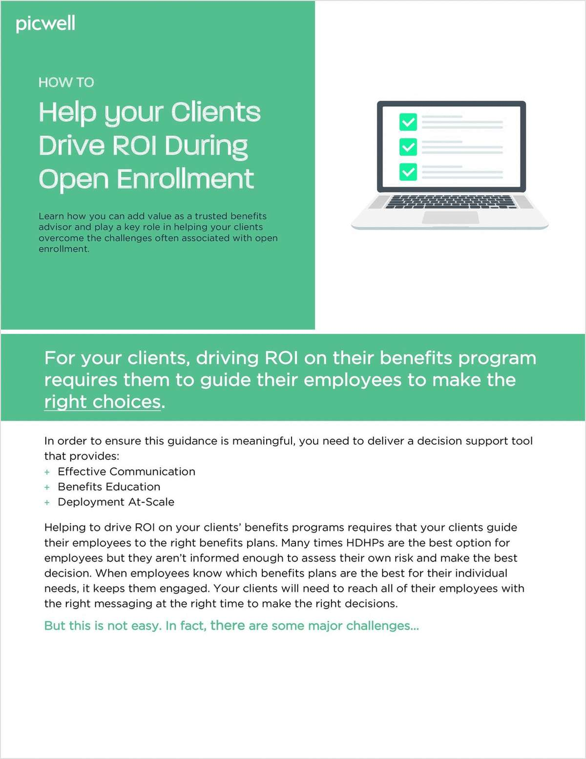 How to Help Your Clients Drive ROI During Open Enrollment