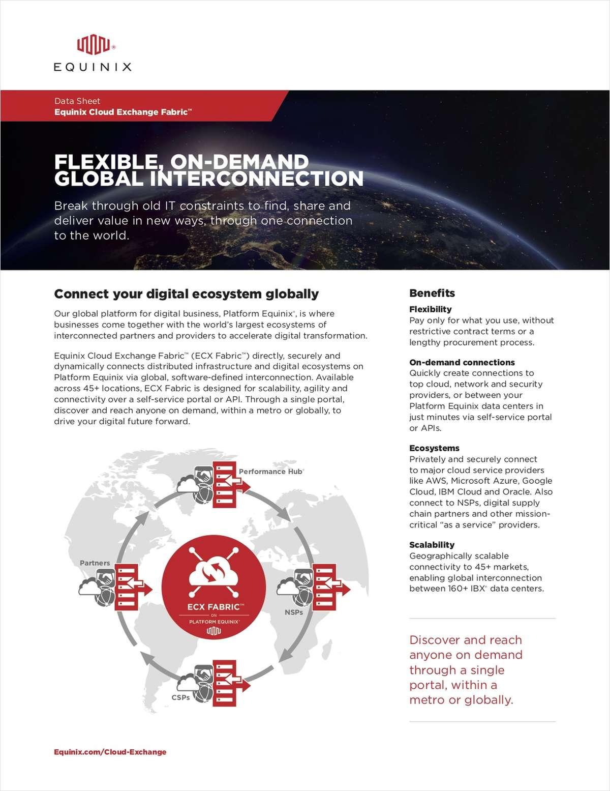 Data Sheet: Equinix Cloud Exchange Fabric