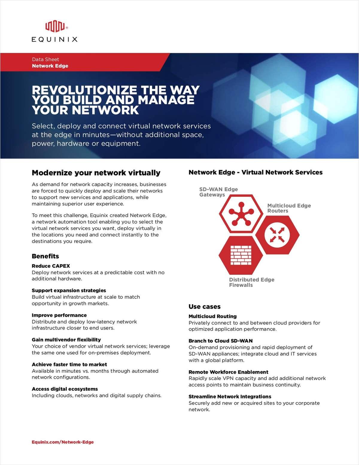 Equinix: Network Edge - Modernize Your Network, Virtually