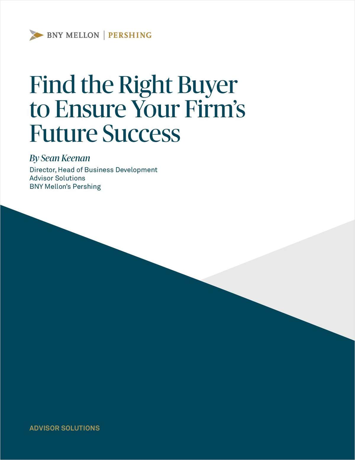 Find the Right Buyer to Ensure Your Firm's Future Success