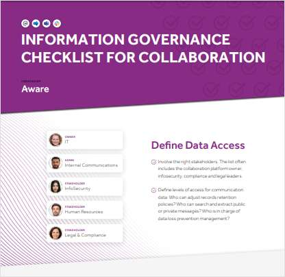 Information Governance Checklist for Collaboration