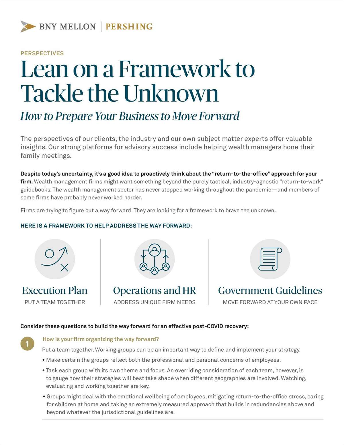 Lean on a Framework to Tackle the Unknown