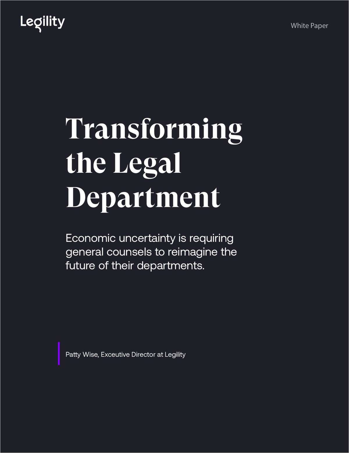 Transforming the Legal Department in Economic Uncertainty