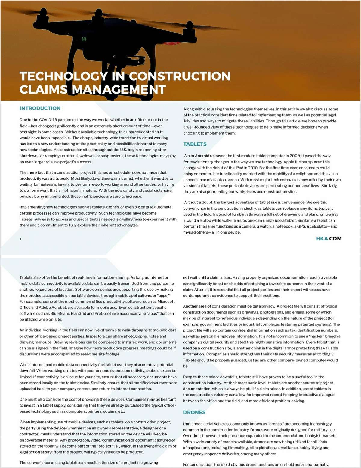 Technology in Construction Claims Management