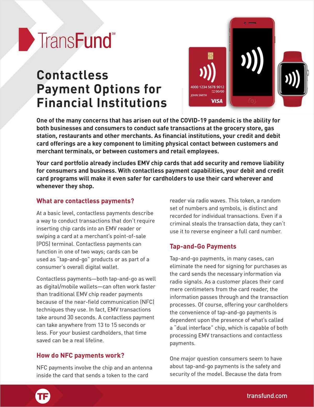 Contactless Payment Options for Your CU