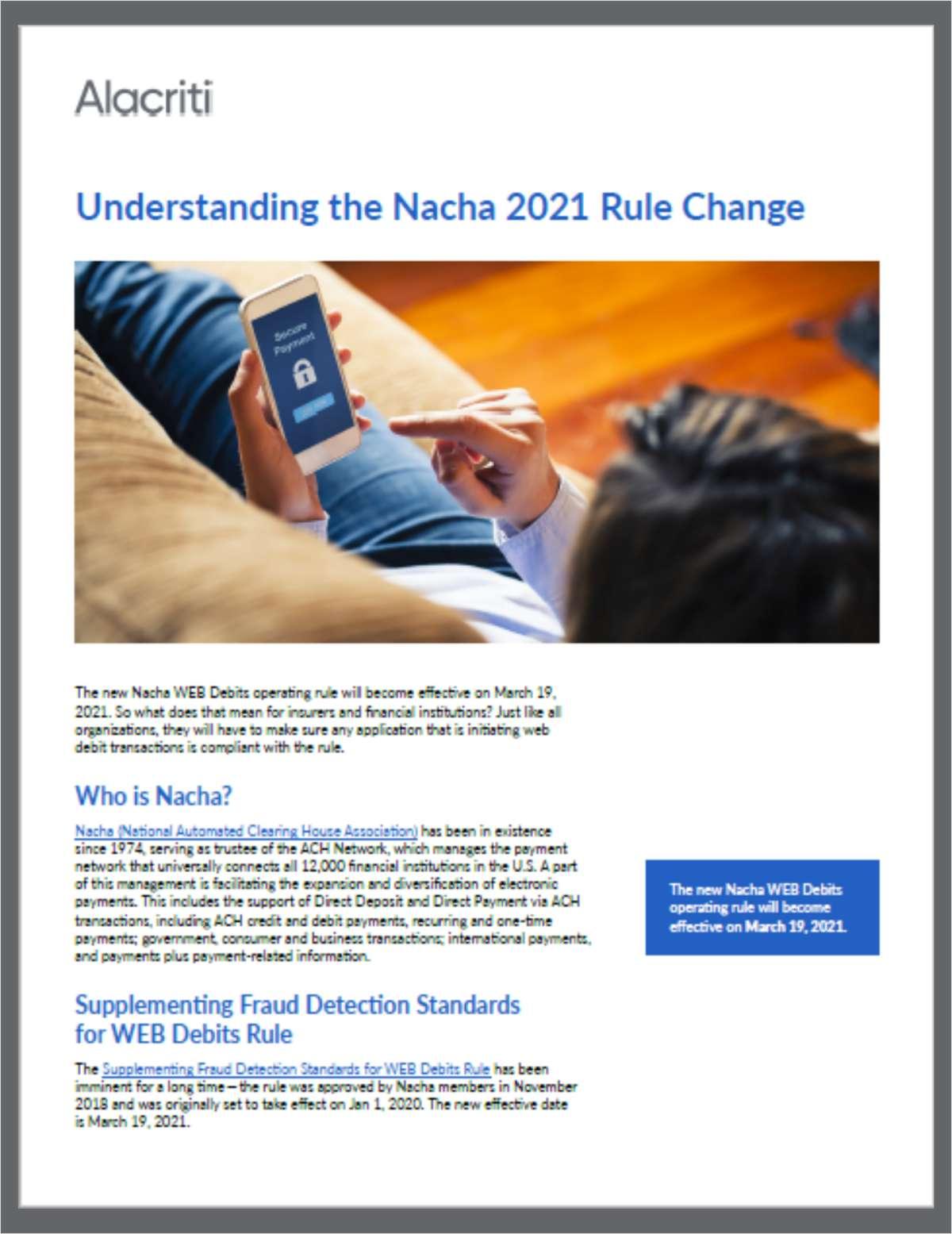 Understanding the Nacha 2021 Rule Change