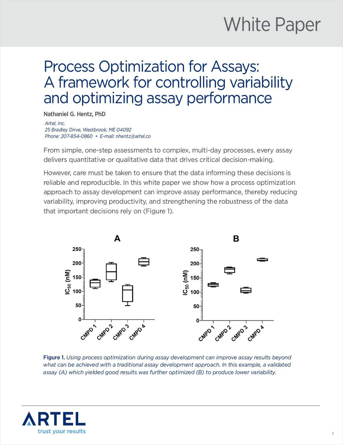 Process Optimization for Assays: A Framework for Controlling Variability and Optimizing Assay Performance