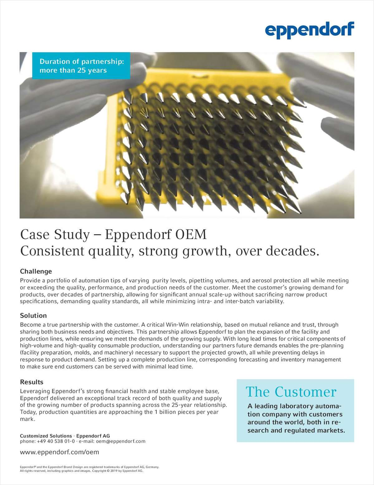 Case Study: Eppendorf OEM for Lab Automation