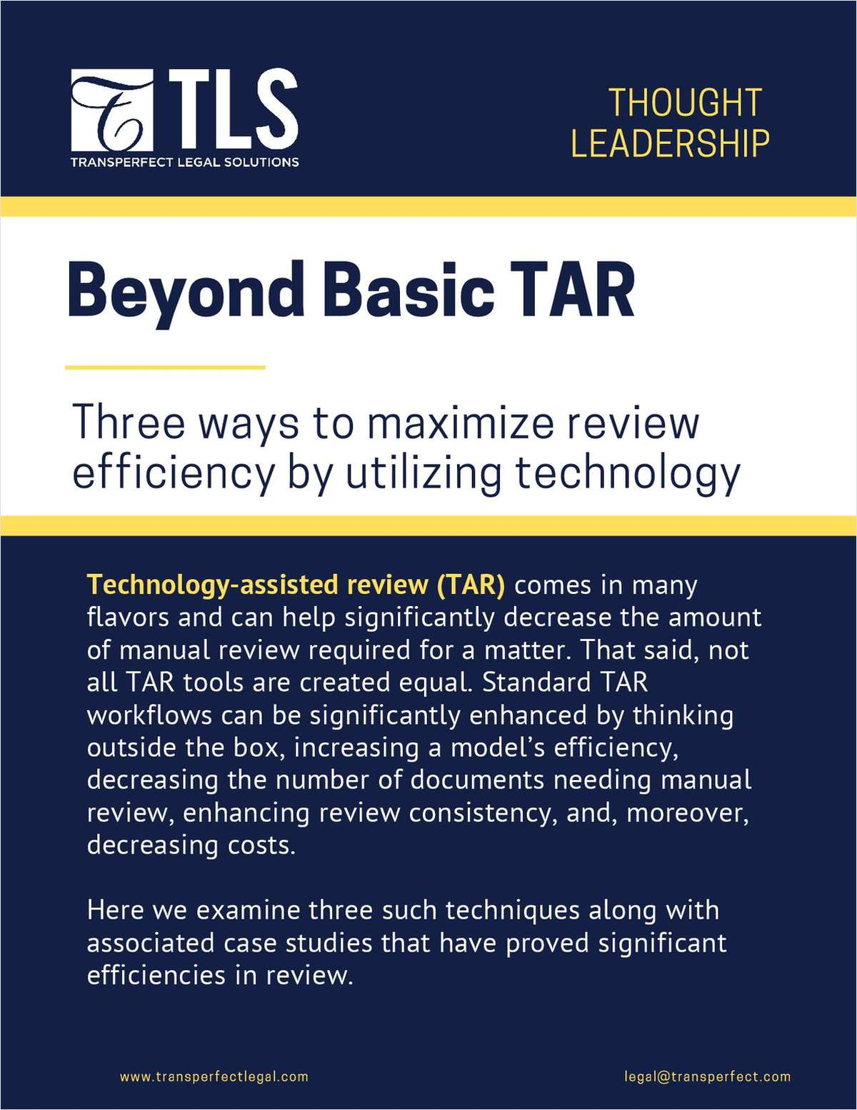 Beyond Basic TAR: 3 Ways to Maximize Review Efficiency by Utilizing Technology