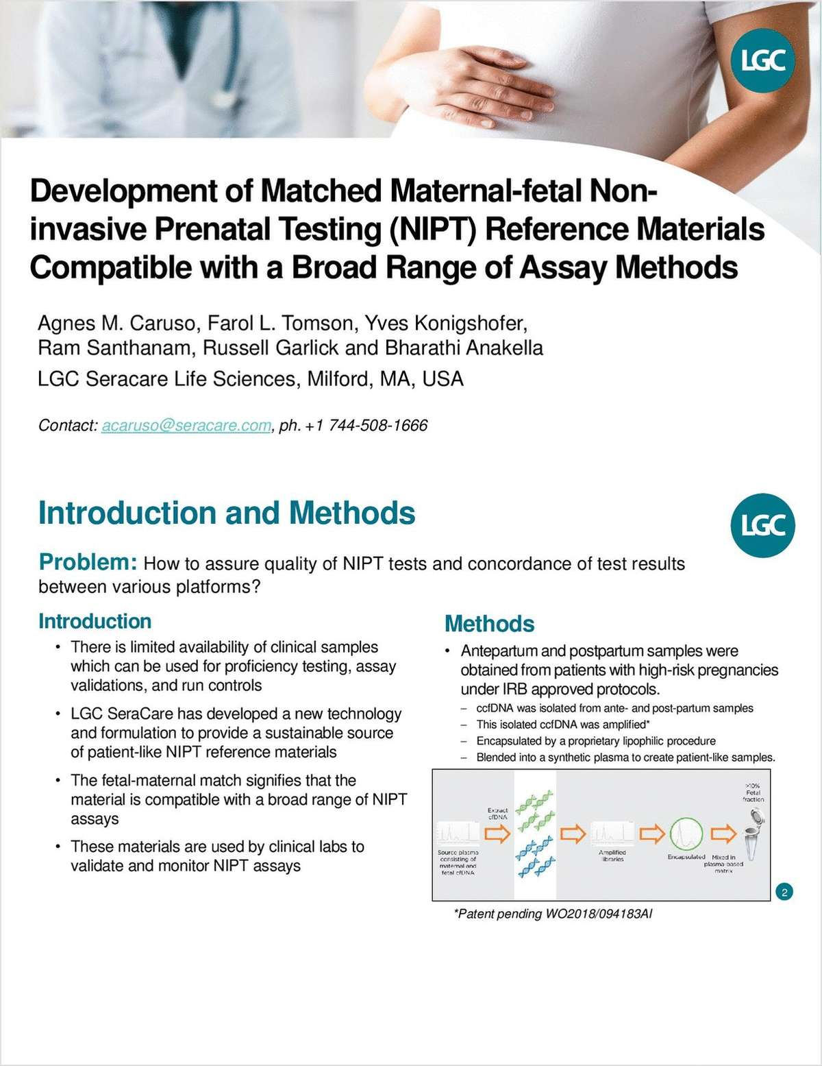 Development of Matched Maternal-Fetal Noninvasive Prenatal Testing (NIPT) Reference Materials Compatible with a Broad Range of Assay Methods