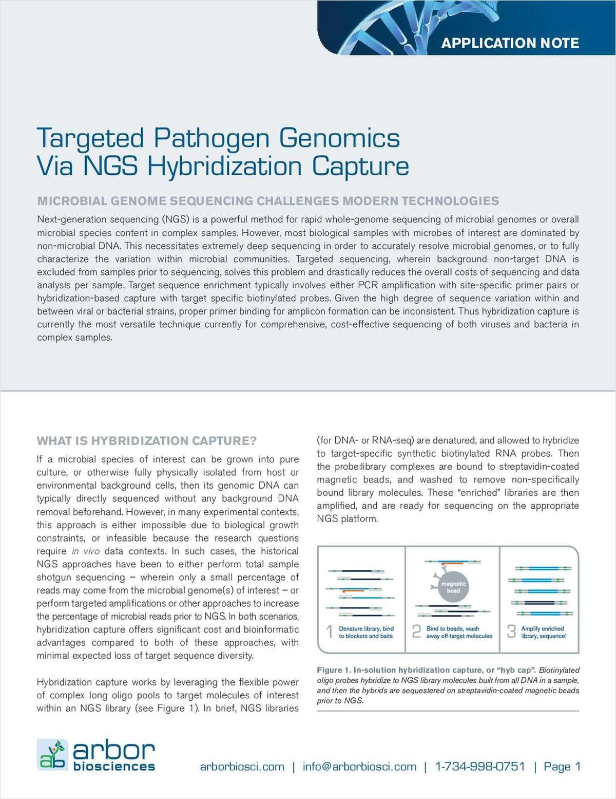 Targeted Pathogen Genomics via NGS Hybridization Capture