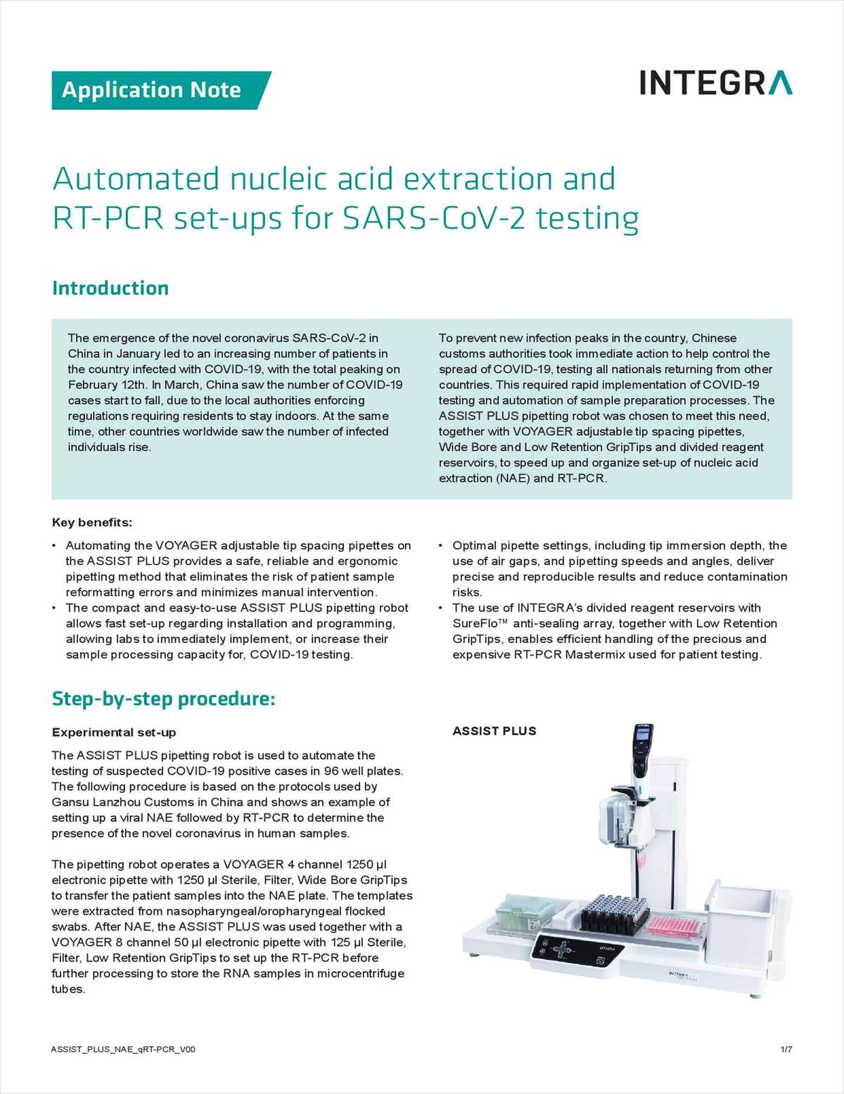 Automated Nucleic Acid Extraction and RT-PCR Setups for SARS-CoV-2 Testing