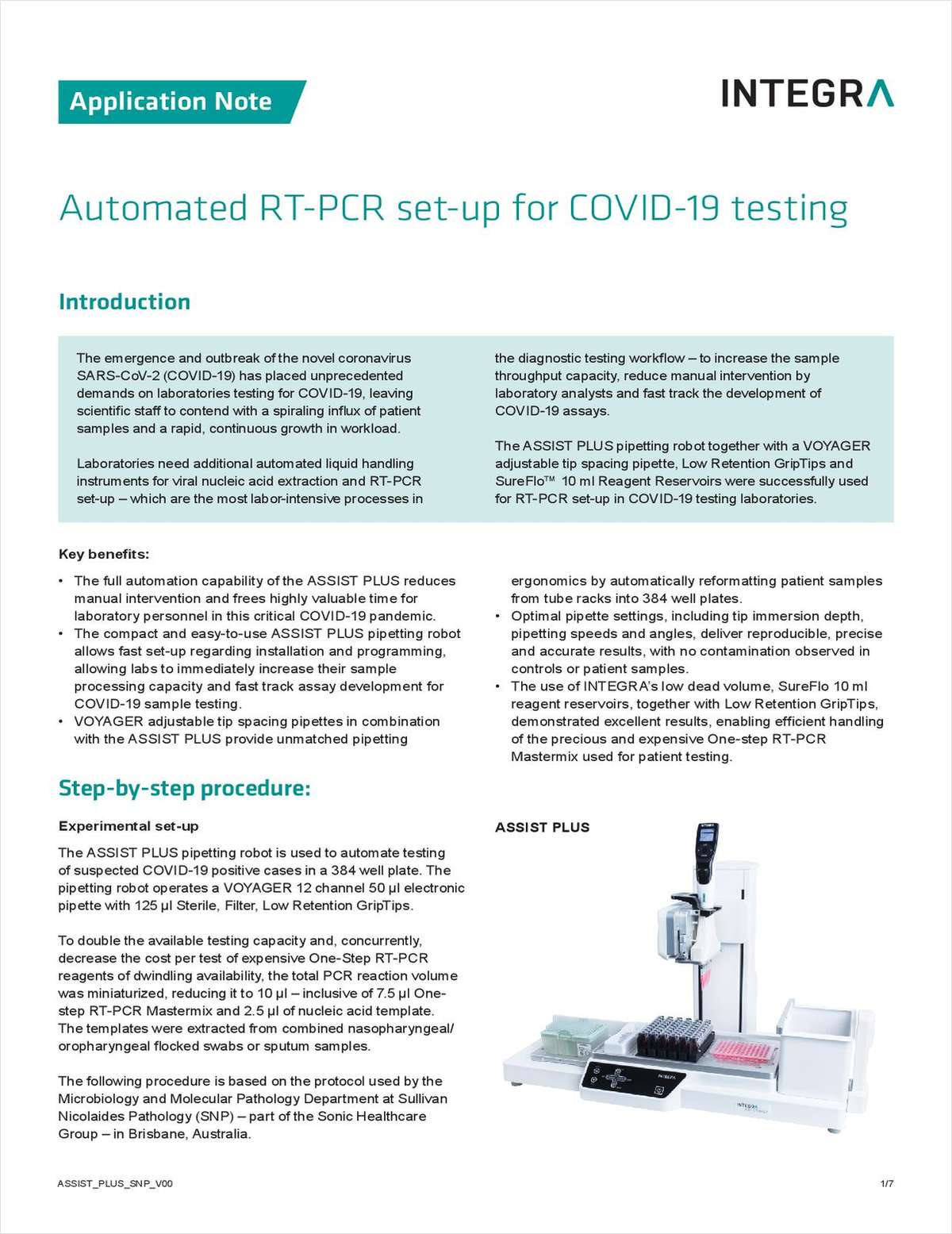 Automated RT-PCR Setup for COVID-19 Testing